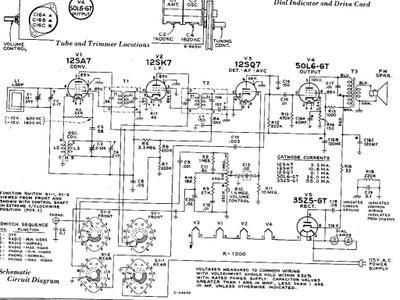 RCA Victor 9-X-571 Original Schematics