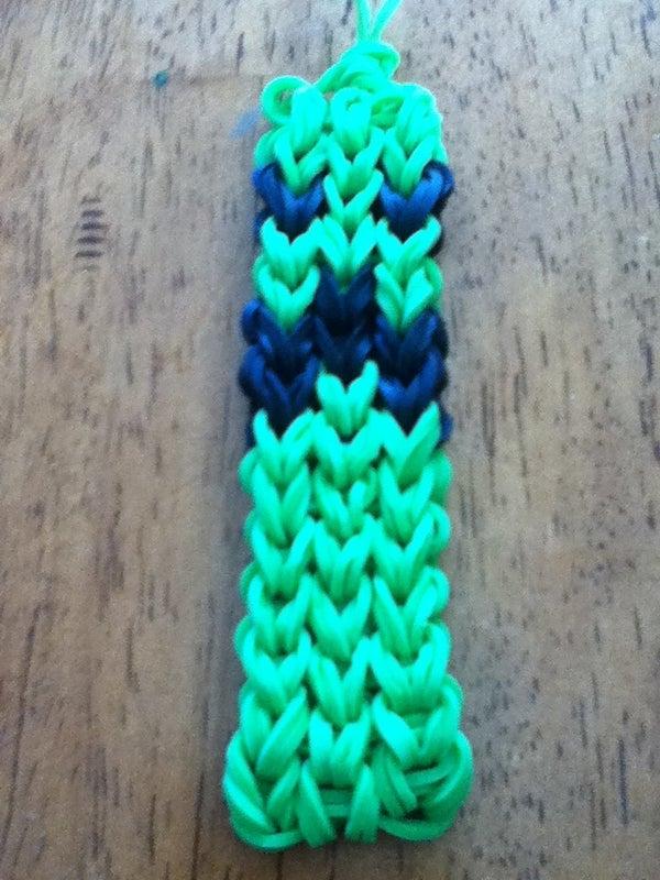 Minecraft Rainbow Loom Creeper Charm