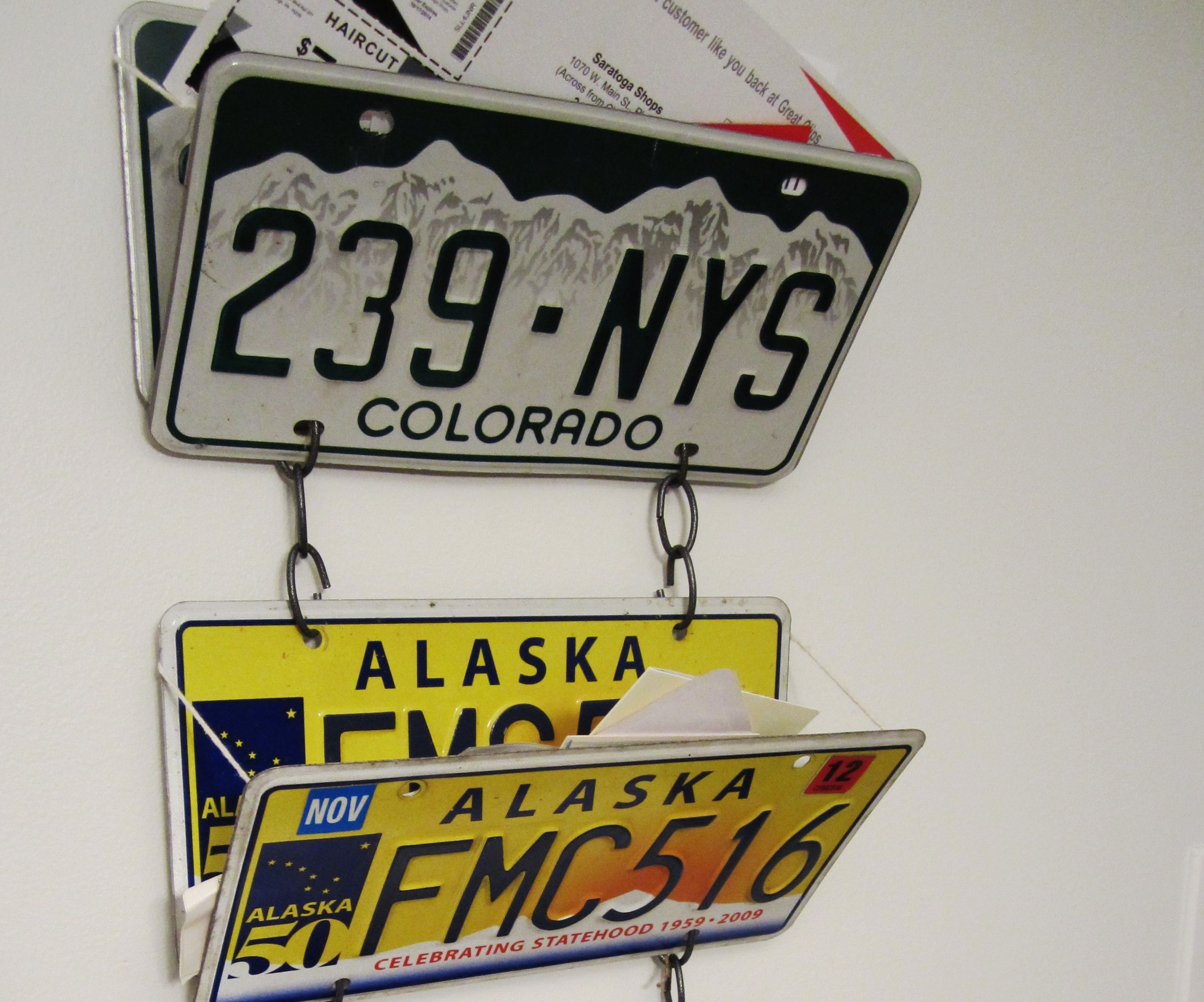 License Plate Mail Organizer