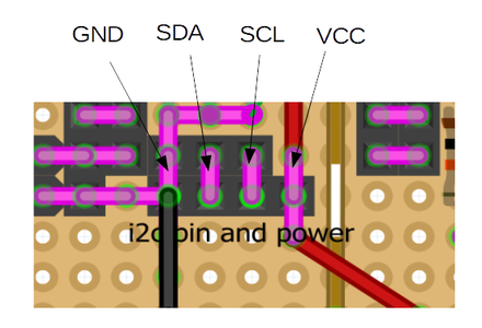 Board: I2c and Power Supply Pins