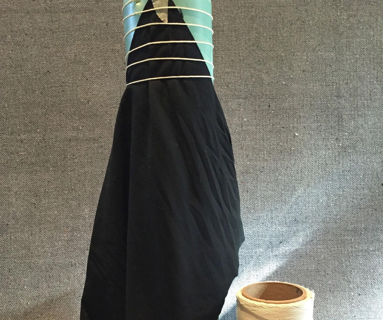 Shibori Pole Wrapping