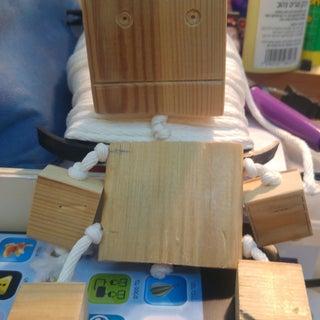 Wooden Robot DIY Homemade Toy