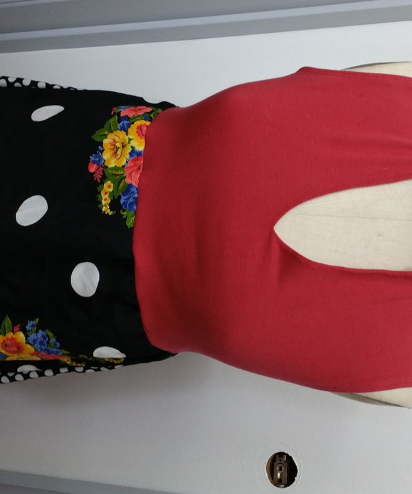 Collaged Blouse Top