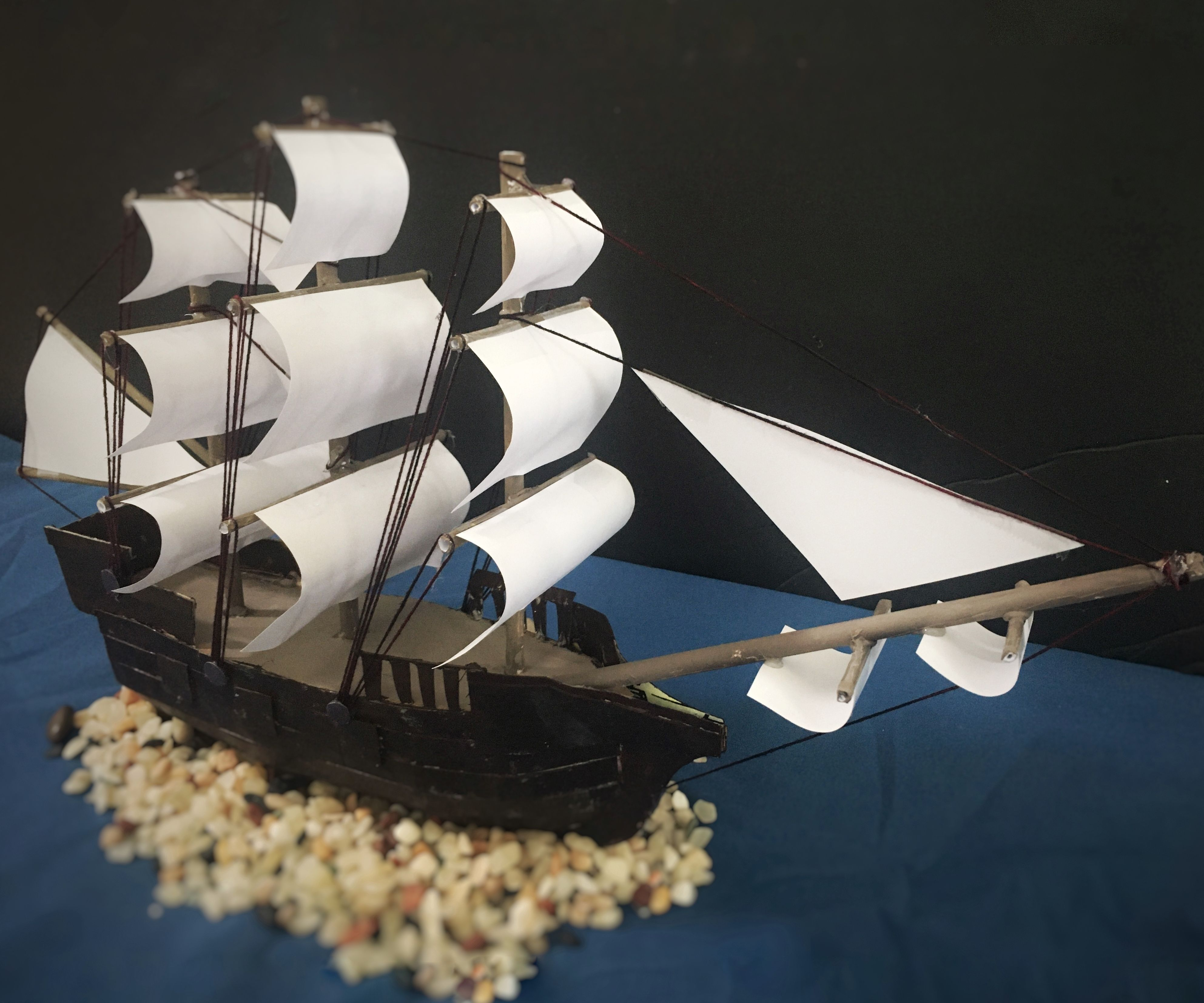 Model Ship From Paper and Cardboard