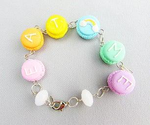 Rainbow Pastel Macaron Polymer Clay Bracelet