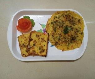 蛋蔬菜煎蛋卷和面包吐司