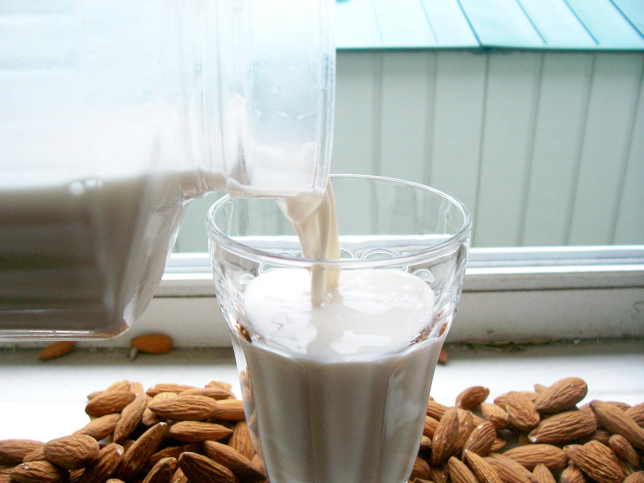 How to Milk an Almond (fresh homemade almond milk, easy)