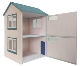 How to Build a Dollhouse Paper Model? #papercraft #diy