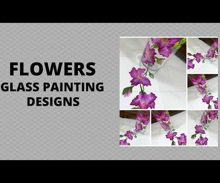 FLOWERS GLASS PAINTING DESIGNS