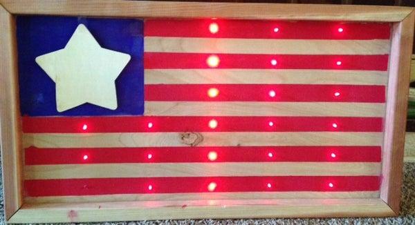LED American Flag.