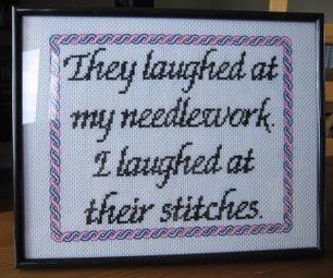 Sassy Needlework Cross Stich Embroidery + Pattern