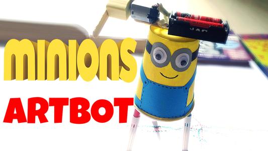 DIY for Kids: Minions Artbot (easy Tutorial)