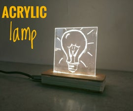 Led Strip Acrylic Lamp