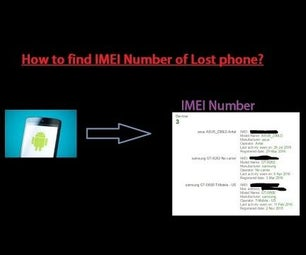 How to Find IMEI Number of Your Lost Phone ?