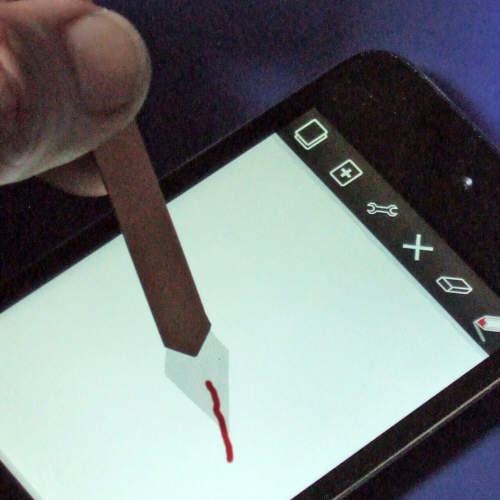 Make Conductive Rubber: Transparent Stylus-iPod/iPhone