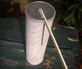 Portable Sundial From a Pringles Tub
