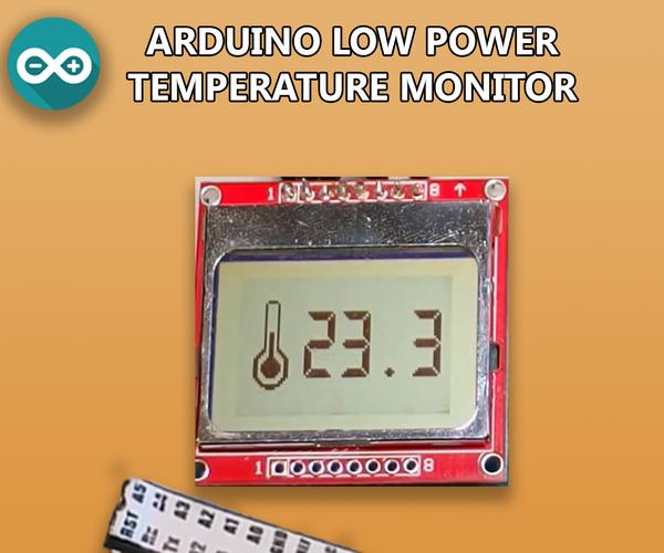 Low Power Arduino Temperature Monitor