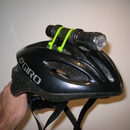 Helmet mounted bicycle light on the quick and cheap!