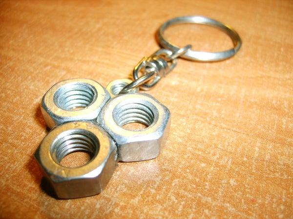 Make Original Keychain Using Nuts.