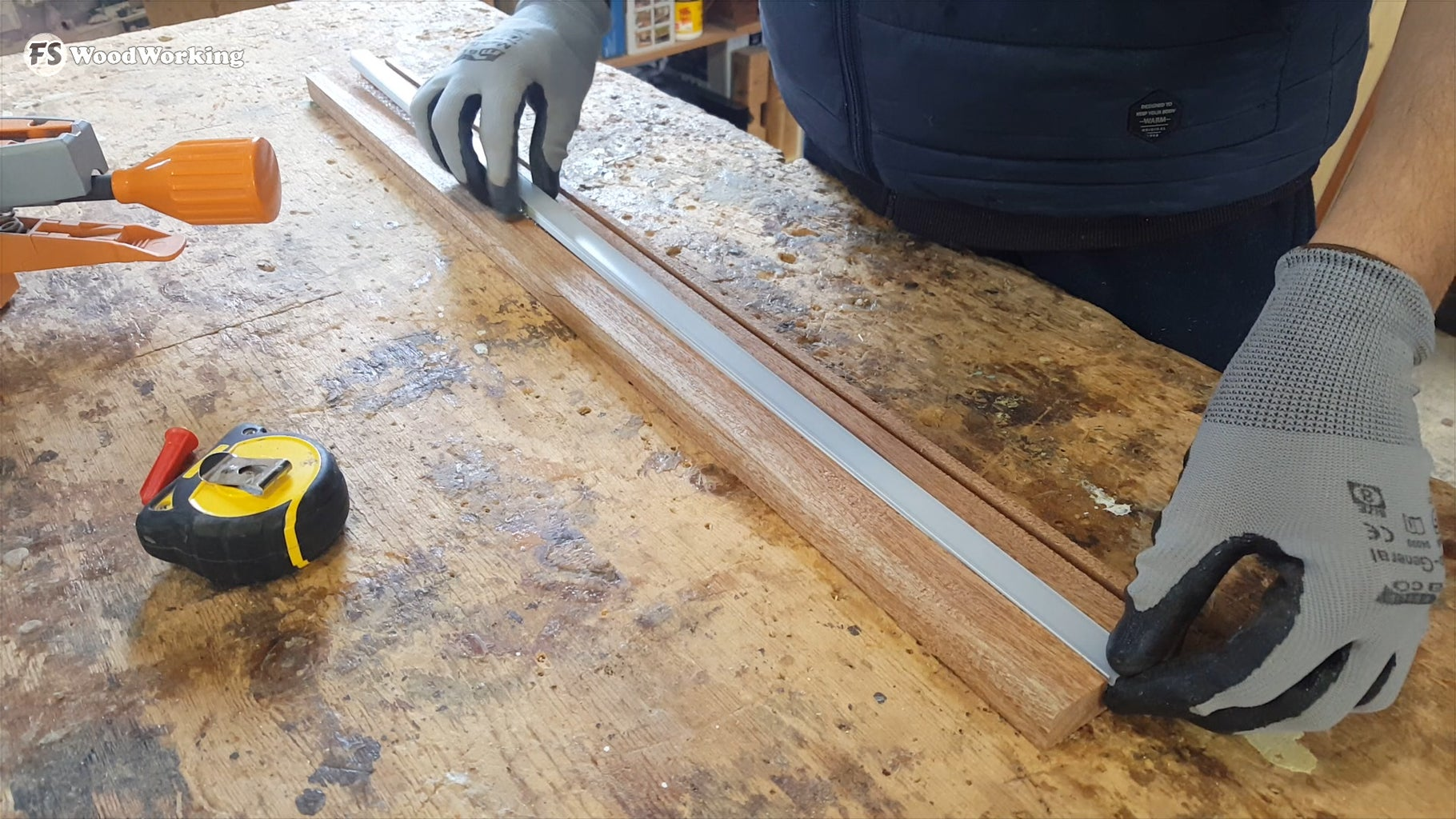 Gluing the Aluminum Channel