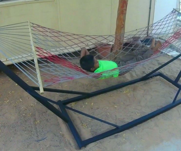 DIY   How to make Outdoor Hammock Stand