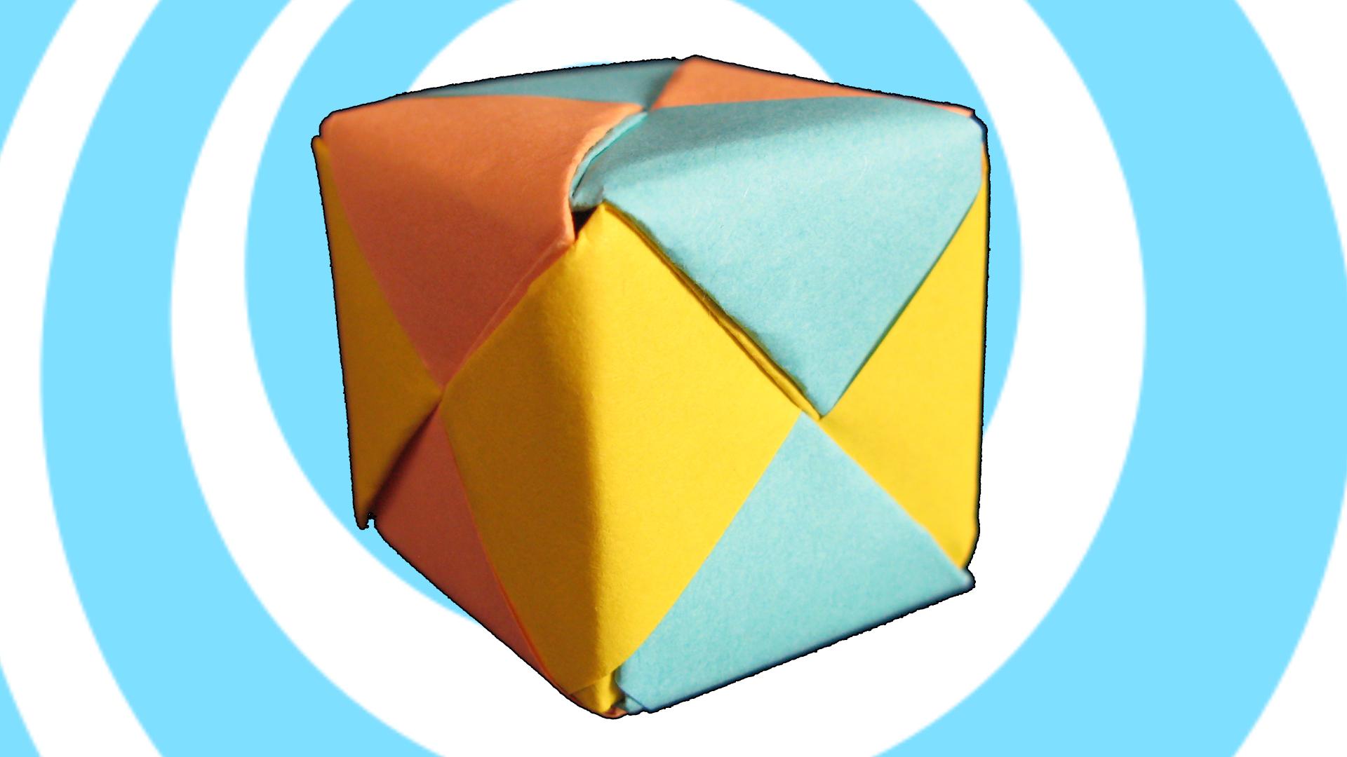 Modular Origami Sonobe Cube  - 6 units