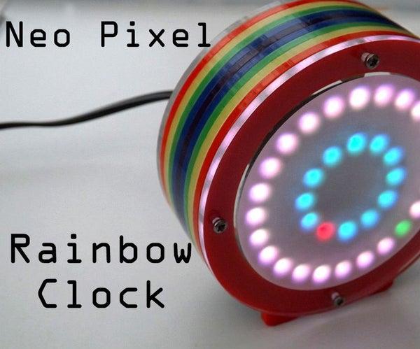 Rainbow Neo Clock
