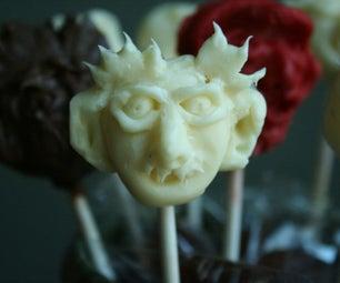 Turn Clay Into Chocolate Halloween Pops