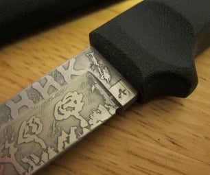 Acid Knife Etching   DIY   Quick and Easy Way of Making Your Knife Look Cool.