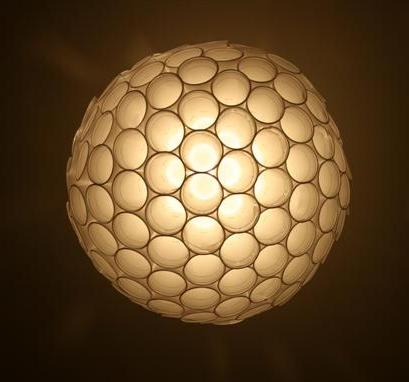 Coffee cup sphere lamp
