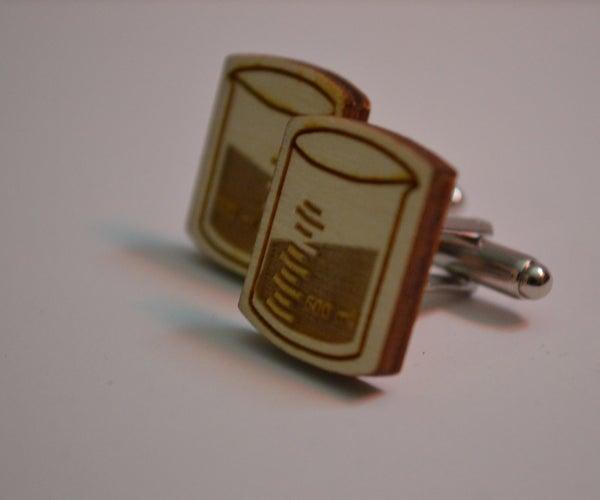 Chemistry Beaker Cufflinks