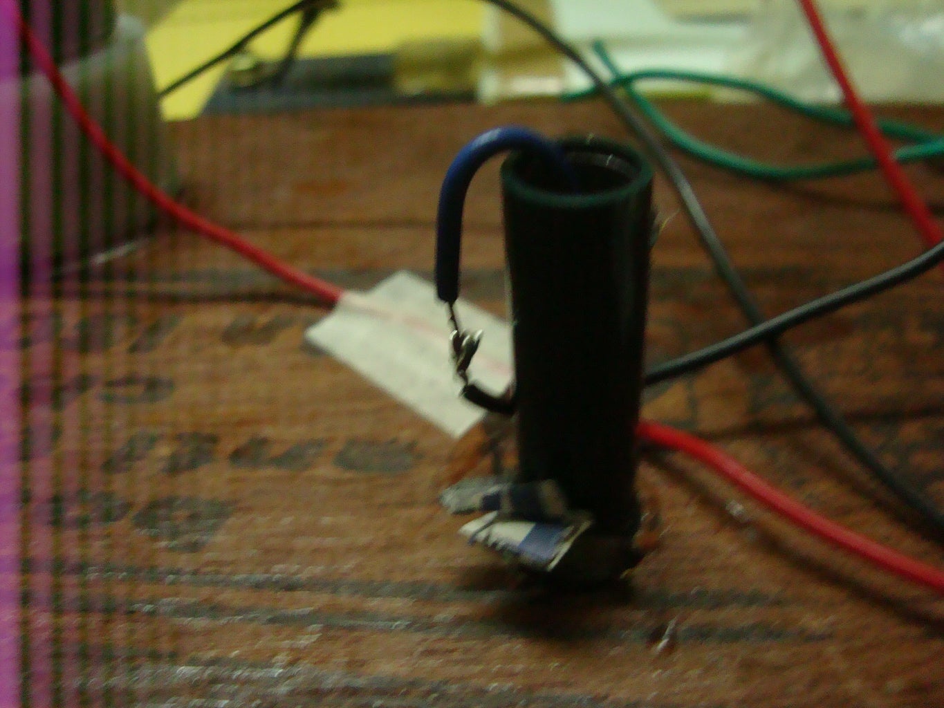Pushing the Wires Through the Stem