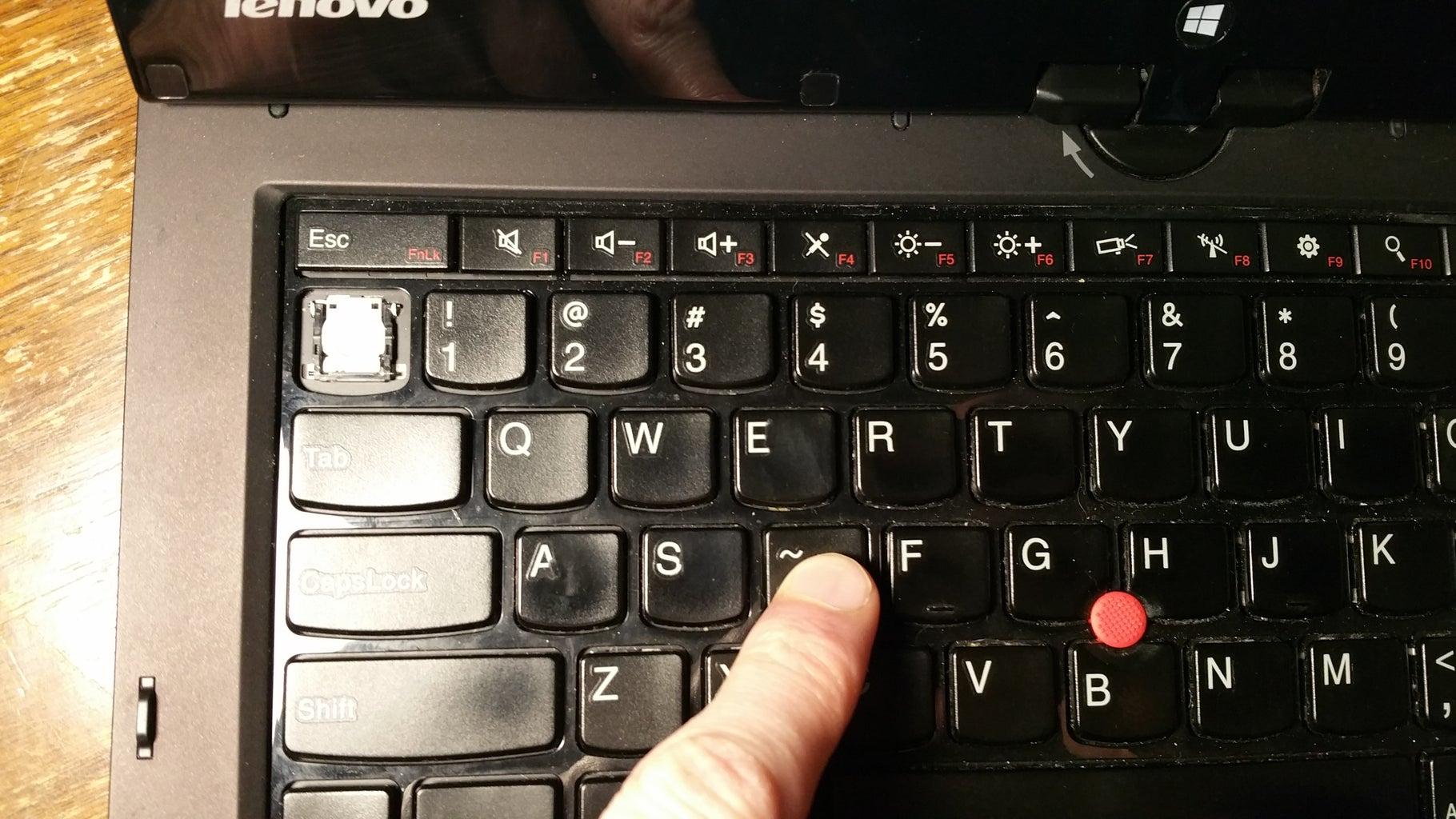 Install the Donor's Key Cap