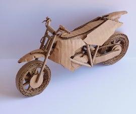 How to Make a Cardboard Model Dirt Bike