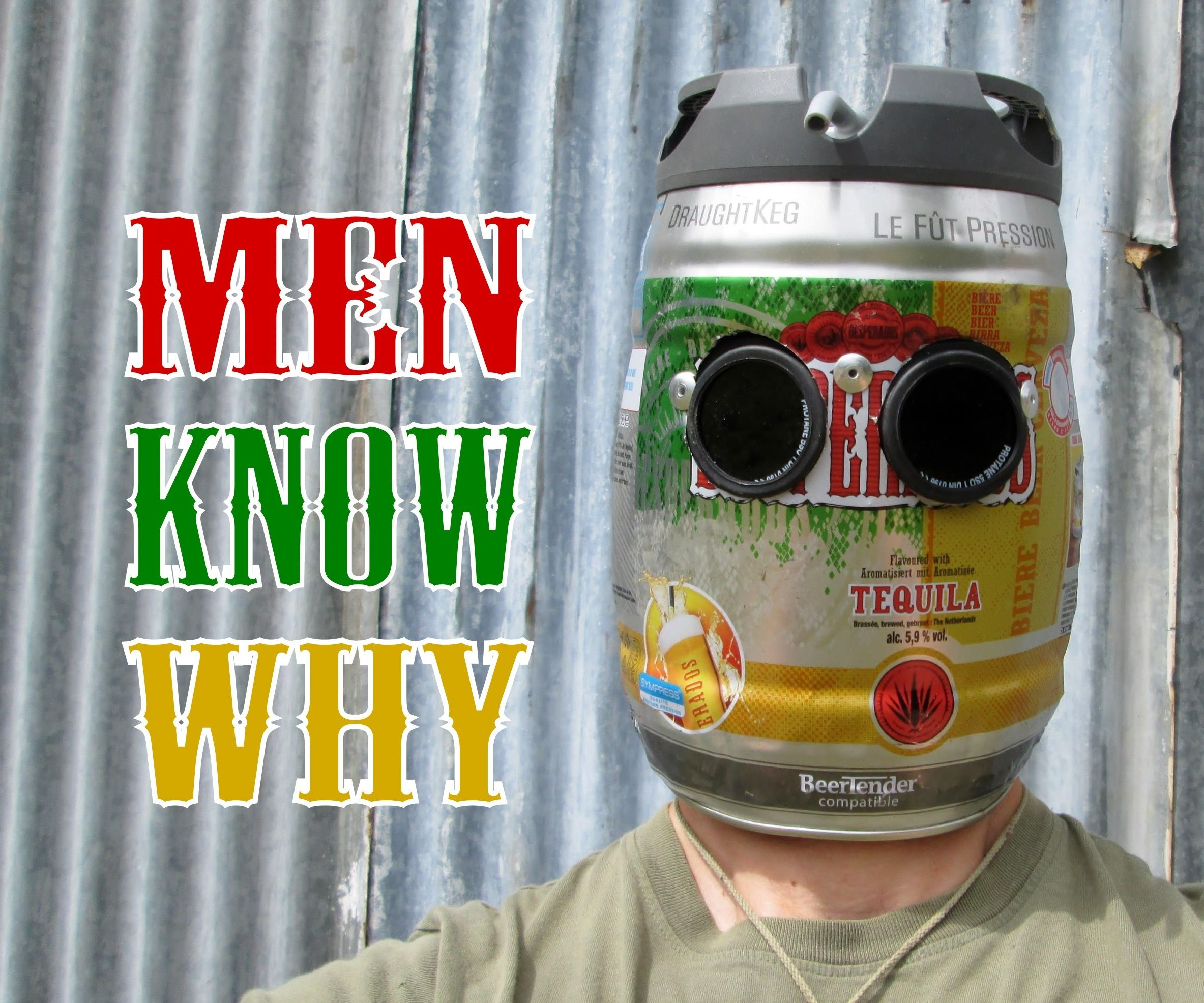 Very Manly Beer Keg Welding Helmet