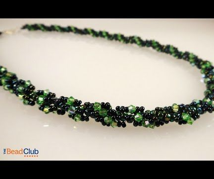 Sparkling Spiral Rope Necklace Video Tutorial