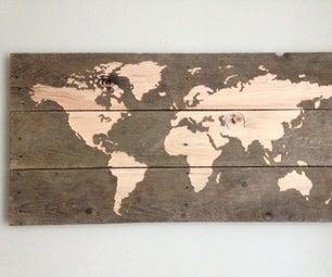 World Map - CNC Pallet Board