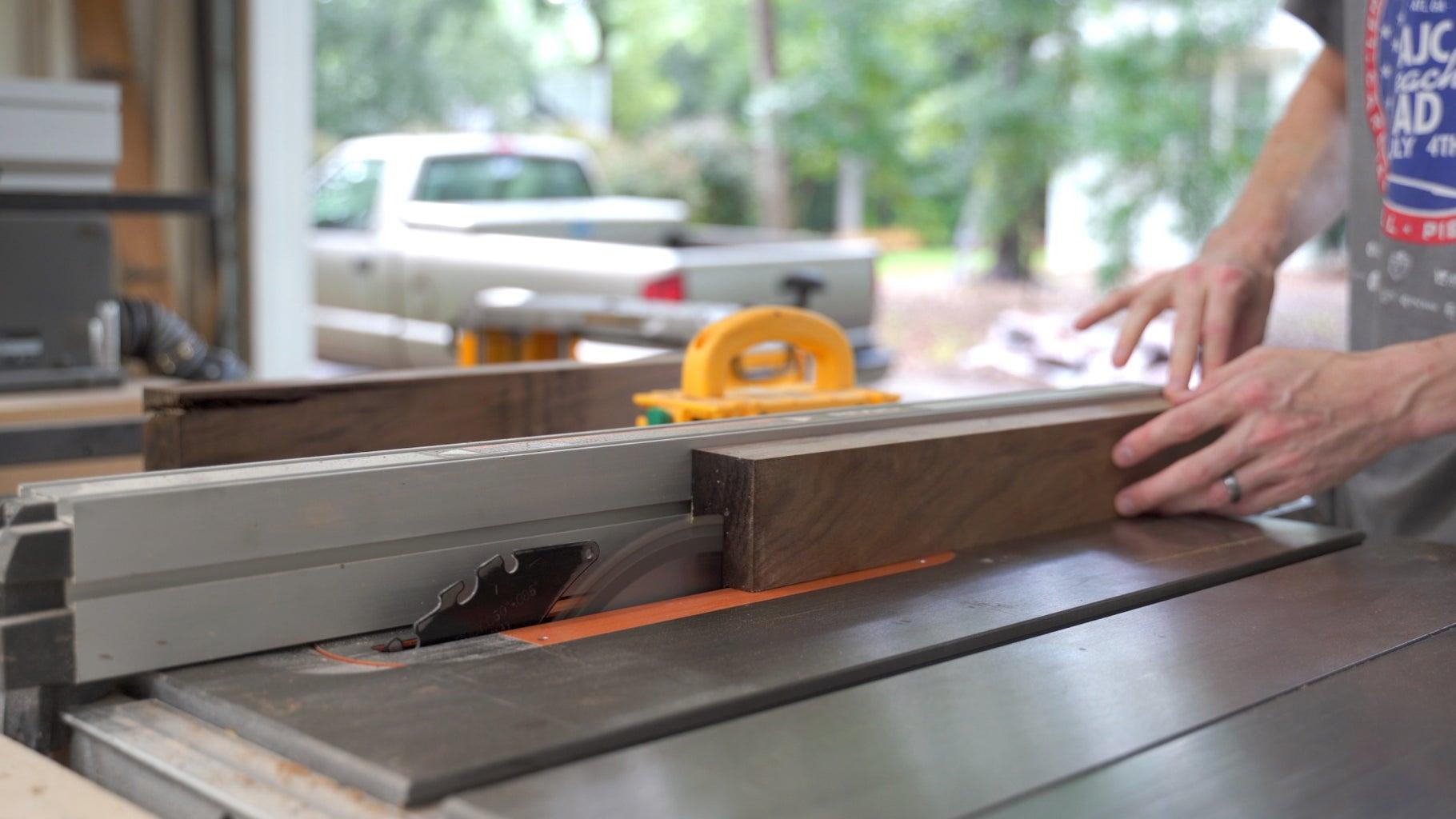 Rip the Lumber in Half