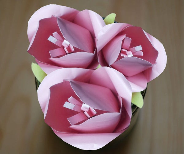 Make Realistic Paper Tulips