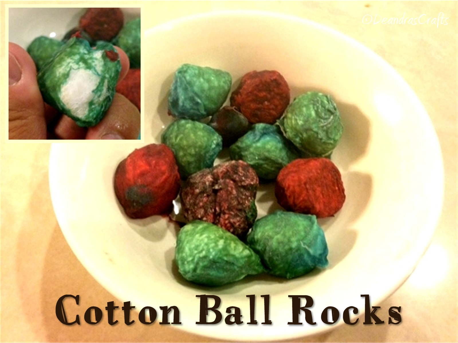 Cotton Ball Rocks