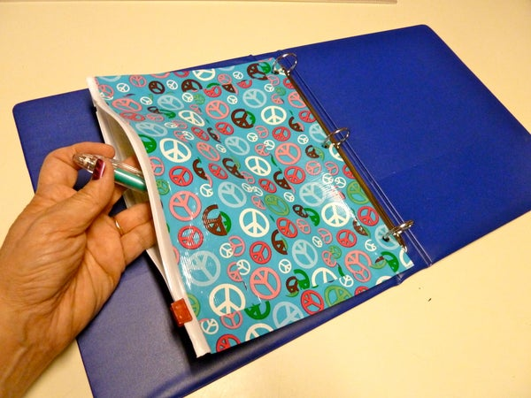 Duct Tape and Storage Bag Binder Pencil Pocket