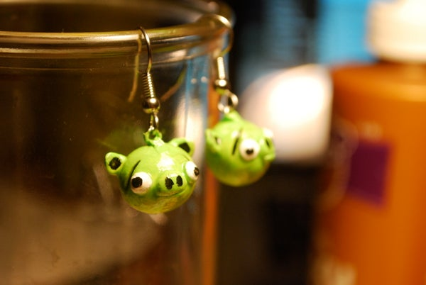 Angry Birds Earrings: Pig Edition
