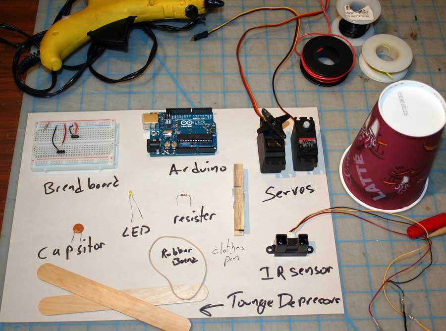 How to make a robotic dart shooting sentry