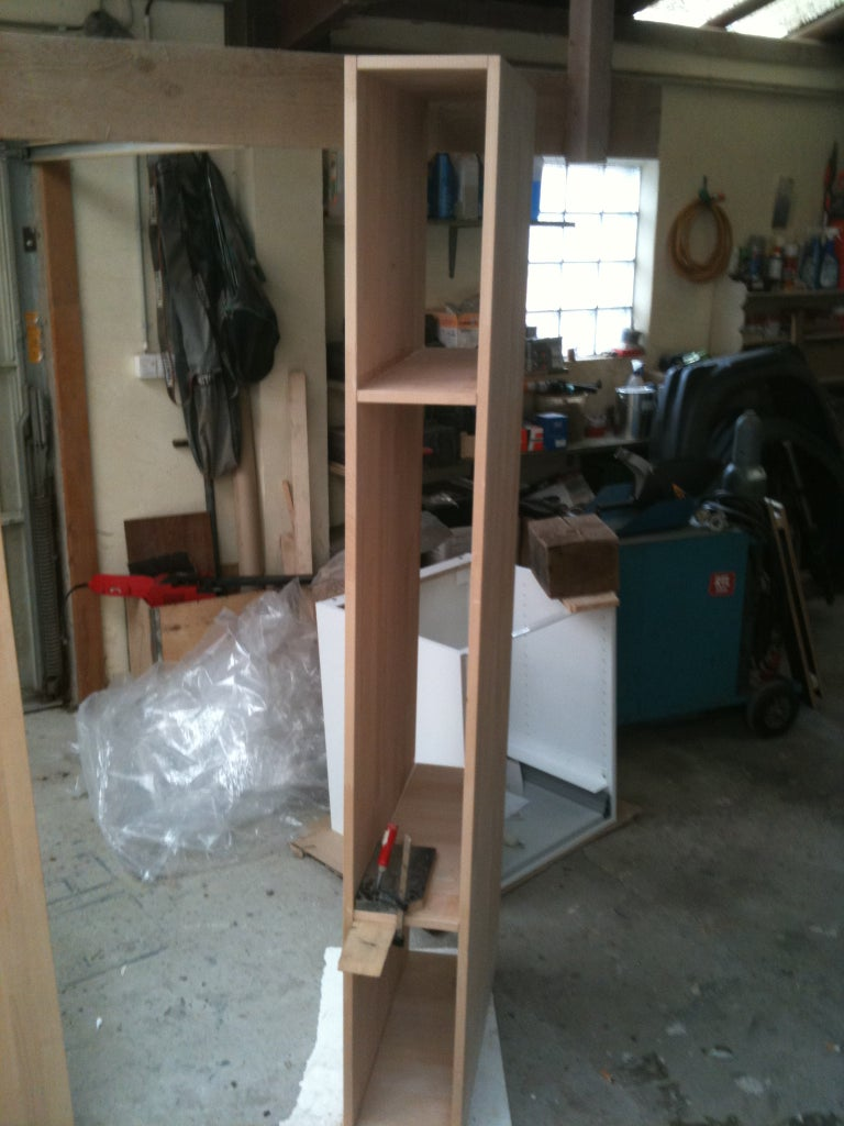 Building the Closets, Cutting and Screwing