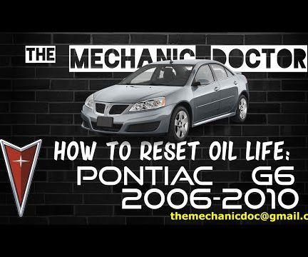 How to Reset Oil Life: Pontiac G6 2006-2010