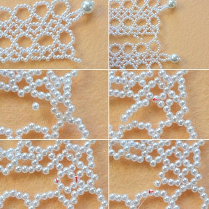 Make the Rest Part of White Pearl Beaded Collar Necklace