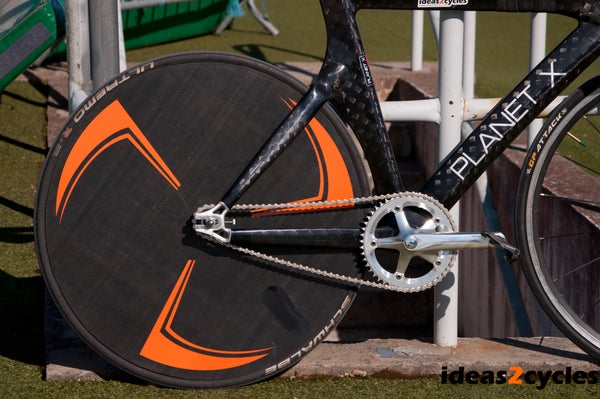 Carbon Disc Wheel for a Track Bike Without Custom Tooling