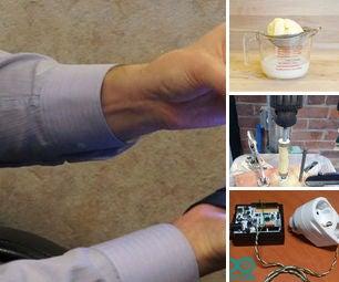 140313 - Taser-Proof Jacket, Make Butter, Drill Press Wood Lathe