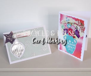 How to Create Cards by Recycling & Reusing Old Cards