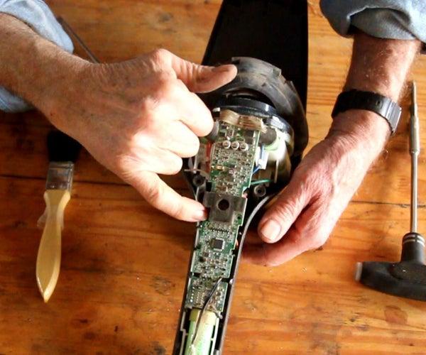 安装一个斗杆式真空吸尘器-伊莱克斯Ergorapido-红灯亮-电机未运行